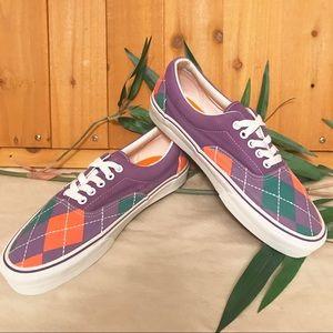 Vans Purple Argyle Shoes NWOT